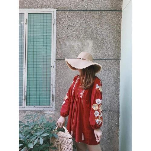 Đầm xòe bbd đỏ thêu hoa - 17286318 , 19718482 , 15_19718482 , 230000 , Dam-xoe-bbd-do-theu-hoa-15_19718482 , sendo.vn , Đầm xòe bbd đỏ thêu hoa