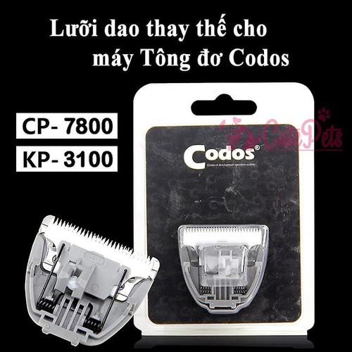 Lưỡi dao thay thế Tông đơ Codos CP 6800 7800 - CutePets Phụ kiện thú cưng Pet shop Hà Nội - 11627760 , 19722728 , 15_19722728 , 150000 , Luoi-dao-thay-the-Tong-do-Codos-CP-6800-7800-CutePets-Phu-kien-thu-cung-Pet-shop-Ha-Noi-15_19722728 , sendo.vn , Lưỡi dao thay thế Tông đơ Codos CP 6800 7800 - CutePets Phụ kiện thú cưng Pet shop Hà Nội