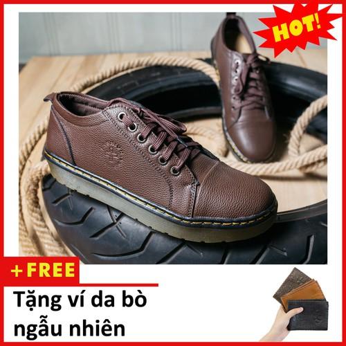 Giày boot nam ngắn cổ đế khâu màu nâu da sần phong cách - chất liệu da tốt nhất, phần lót giày mềm, êm và thoáng khí-đế giày làm bằng chất liệu cao su mềm mại, đôi giày có thể sử dụng linh hoạt trên m