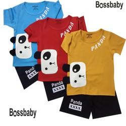 SÉT 3 BỘ ĐỒ QUẦN ĐEN, ÁO TAY NGẮN. áo túi gâu 2 lớp vải nổi bậc cho bé từ 7 đến 25kg.betrai09.