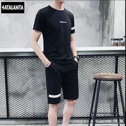 Bộ quần áo thể thao nam thun lạnh 4AT - BTT - 209 năng động - TEXT NGANG NGỰC - 4ATALANTA