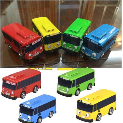 Xe ô tô buýt tayo the little bus bộ gồm 4 chiếc 4 màu khác nhau đồ chơi trẻ em