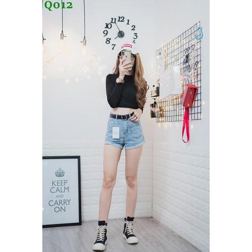 Q012-Quần short jean túi trước