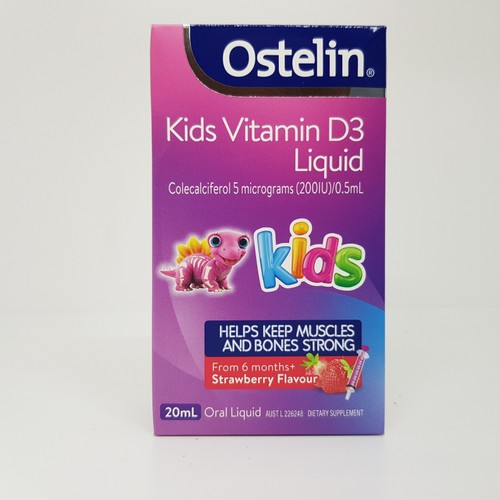 Ostelin kids vitamin d3 200iu 20ml mẫu mới 2019 cho bé từ 6 tháng tuổi