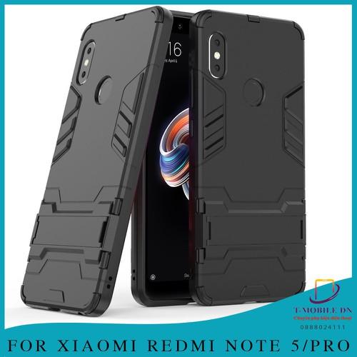 Ốp lưng xiaomi redmi note 5, ốp iron man chống sốc kèm chống xem video bảo vệ camera cho note 5 pro