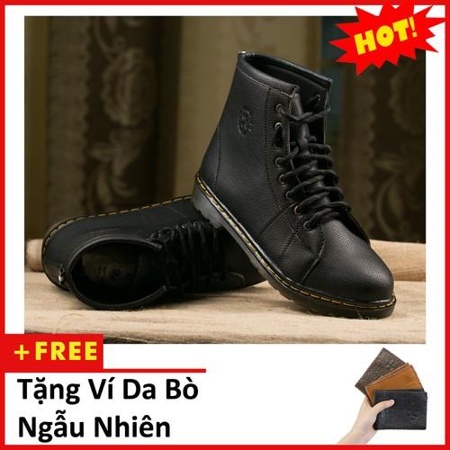 Giày boot nam cao cổ đế khâu màu đen da sần phong cách - chất liệu da tự nhiên cao cấp,êm và thoáng khí-đế giày làm bằng chất liệu cao su mềm mại, đôi giày có thể sử dụng linh hoạt trên mọi địa hình,