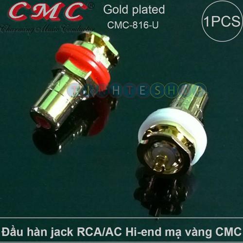 Đầu hàn chân cắm jack hoa sen cái av-rca trên loa amplifier hi-end cmc usa gold 24k model: cmc-816-u 1 chiếc