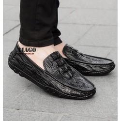 Giày mọi nam vân cá sấu DA THẬT|BH 1 NĂM