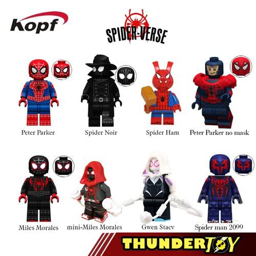Minifigures các nhân vật trong phim spider man in spider verse