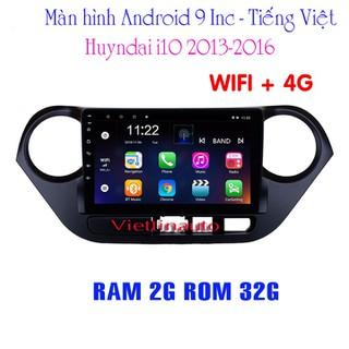 Màn hình Android chạy Sim 4G xe Huyndai i10 9 In Tiếng Việt RAM 2G ROM 32G - HL 12011 thumbnail