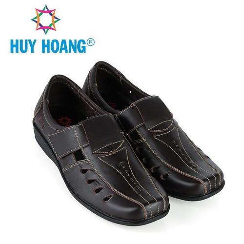 Giày rọ nam Huy Hoàng da bò màu nâu HS7787