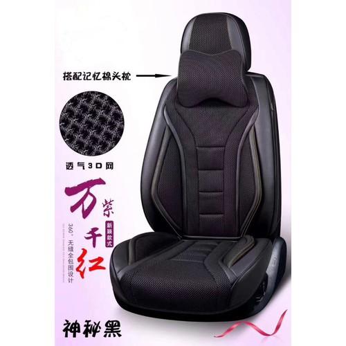 Áo ghế ô tô da cao cấp - đen - đỏ - nâu - kem