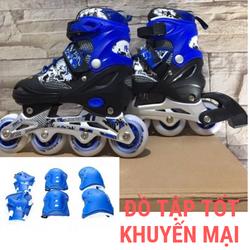 Giày trượt patin 906 có đèn cao cấp TẶNG KÈM BỘ BẢO VỆ GỐI, TAY, CHÂN