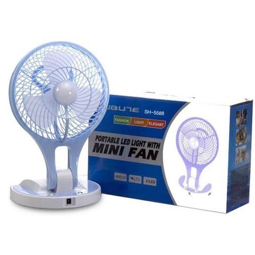 Quạt để bàn tích điện mini fan gấp gọn 2 in 1 có đèn ht-5580 - 12106156 , 19754877 , 15_19754877 , 186000 , Quat-de-ban-tich-dien-mini-fan-gap-gon-2-in-1-co-den-ht-5580-15_19754877 , sendo.vn , Quạt để bàn tích điện mini fan gấp gọn 2 in 1 có đèn ht-5580