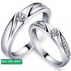 Nhẫn đôi Bạc Hiểu Minh Nc356
