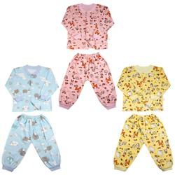 Combo 3 Bộ quần áo dài tay thu đông cotton bozip cao cấp cho bé trai ,bé gái từ 3-12kg - ảnh thật - bộ quần áo thu đông , bộ quần áo dài tay