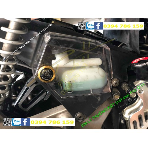Ốp nước tản nhiệt trong suốt air blade vario