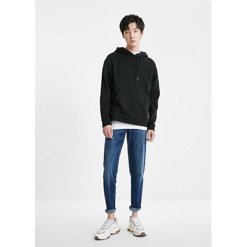 Áo hoodie nam trơn 1 màu đen duy nhất thời trang hãng jack jones