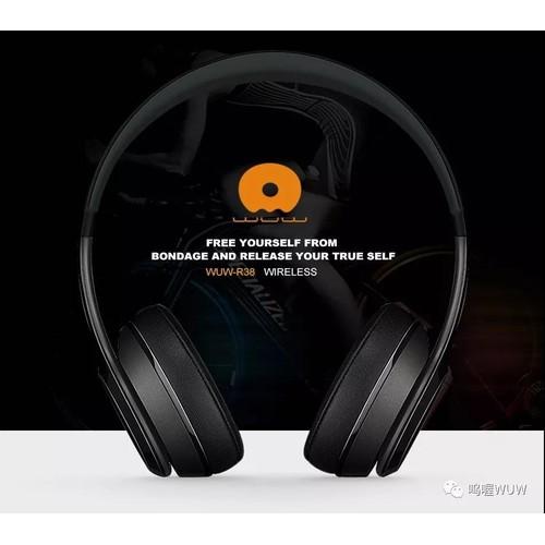 Tai nge - tai nghe chụp tai bluetooth cao cấp wuw r38, thiết kế thời trang, cực đẹp