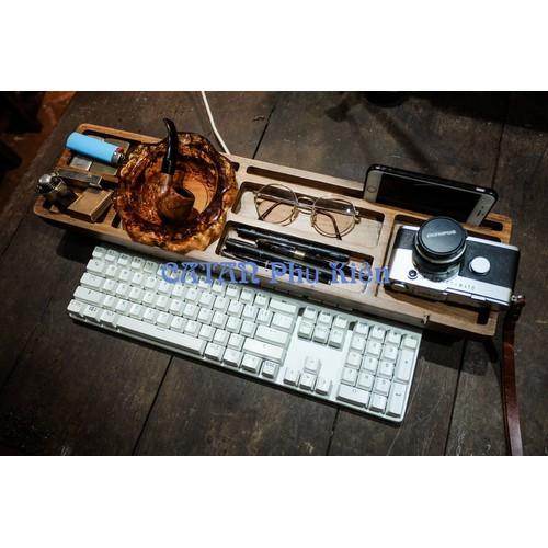 Khay gỗ đựng văn phòng phẩm để bàn phím máy tính đa năng - 12113058 , 19764439 , 15_19764439 , 299000 , Khay-go-dung-van-phong-pham-de-ban-phim-may-tinh-da-nang-15_19764439 , sendo.vn , Khay gỗ đựng văn phòng phẩm để bàn phím máy tính đa năng