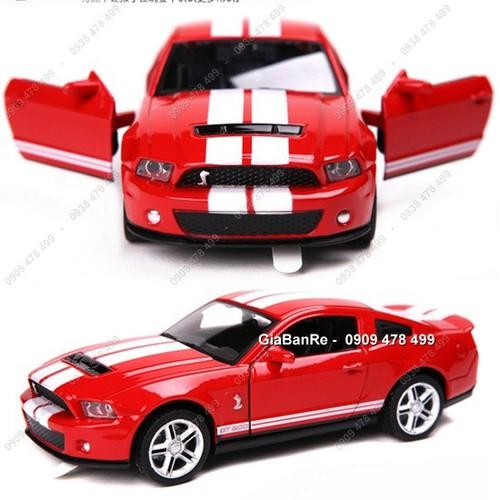 Xe mô hình sắt tỉ lệ 1:32 - ford shelby mustang cobra - đỏ