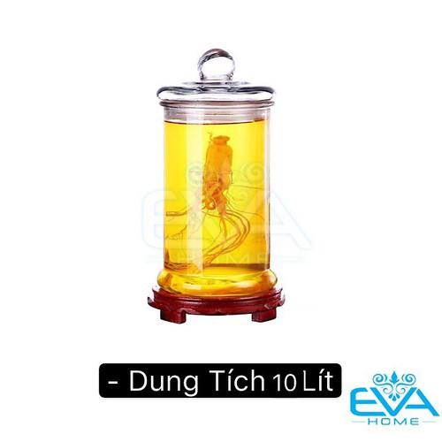 Bình ngâm thủy tinh 10 lít dáng trụ thân trơn – tt10l