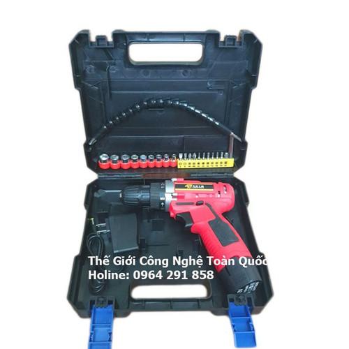 Bộ máy khoan bắt vít chạy pin 12v máy 1 pin 2 tốc độ gồm 9 đầu vặn ốc 10 đầu vít và 1 dây nối dài cho máy khoan - 12119221 , 19774219 , 15_19774219 , 439000 , Bo-may-khoan-bat-vit-chay-pin-12v-may-1-pin-2-toc-do-gom-9-dau-van-oc-10-dau-vit-va-1-day-noi-dai-cho-may-khoan-15_19774219 , sendo.vn , Bộ máy khoan bắt vít chạy pin 12v máy 1 pin 2 tốc độ gồm 9 đầu vặn ố