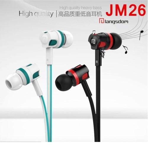 Tai nghe nhét tai earphone langsdom jm26 super bass new edition