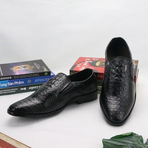 Giày lười da đẹp tl338, from chuẩn bán shop thành long chuyên giày tây