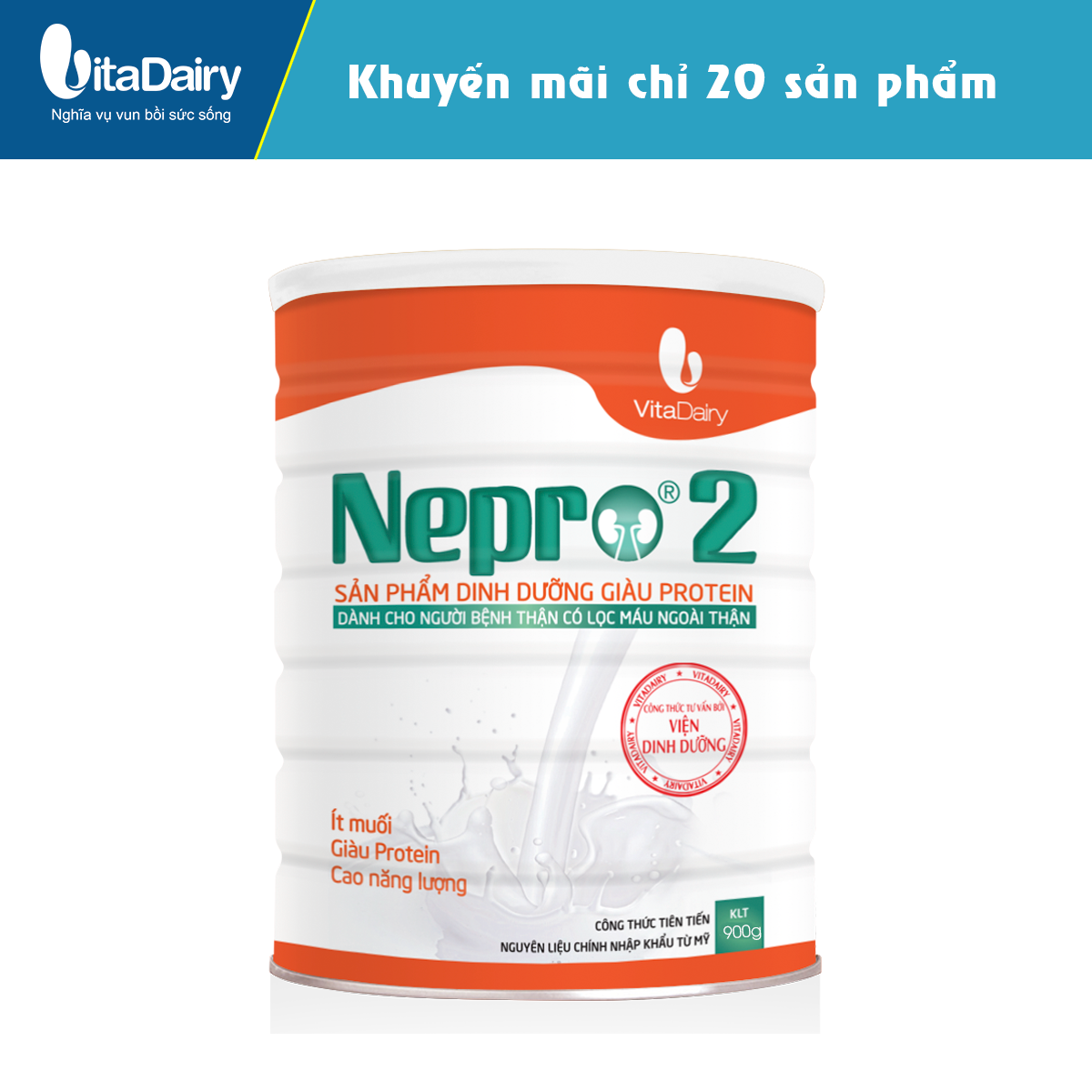 Sữa bột Nepro 2 900g - VDNE9S02