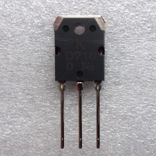 Combo -  sò công suất d718 npn chính hãng kec lưng đồng chân bóng - 10 cái