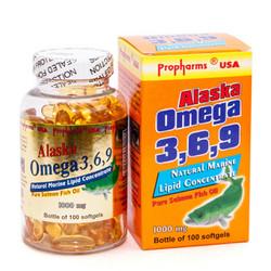 Dầu cá Alaska omega-3 6 9 Dùng cho người bị mắc bệnh tim mạch, cao huyết áp, xơ vữa động mạch