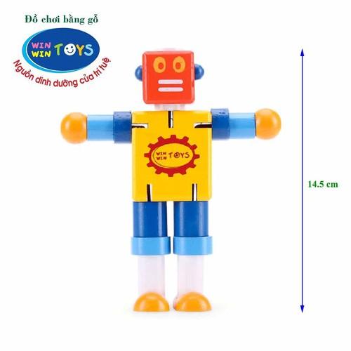 Đồ chơi gỗ cậu bé người máy winwintoys 64052