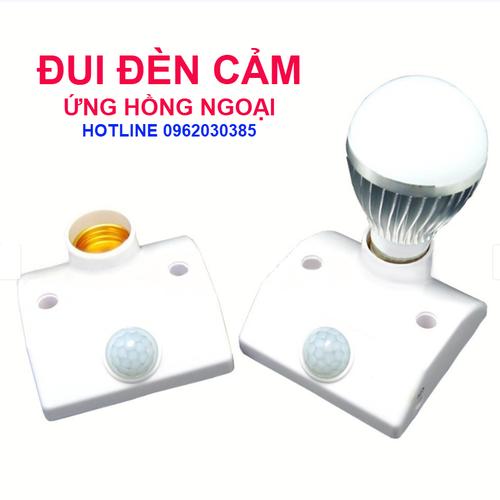 Đui đèn cảm ứng hồng ngoại - đui đèn tự đống tắt bật