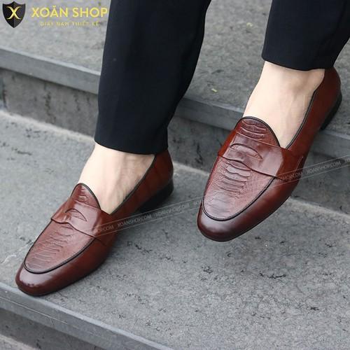 Giày Lười Da Nam - giày lười nam da bò thật màu nâu đế phíp gỗ - 11362392 , 20405915 , 15_20405915 , 850000 , Giay-Luoi-Da-Nam-giay-luoi-nam-da-bo-that-mau-nau-de-phip-go-15_20405915 , sendo.vn , Giày Lười Da Nam - giày lười nam da bò thật màu nâu đế phíp gỗ