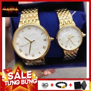 Đồng hồ đôi Bashuns Long phụng mặt trắng in nổi quyền lực sang trọng thời thượng cặp đôi - BS01 thumbnail