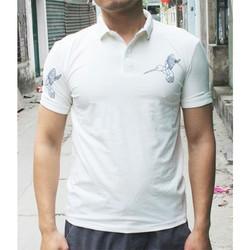 Áo thun nam ngắn tay màu trắng họa tiết vai