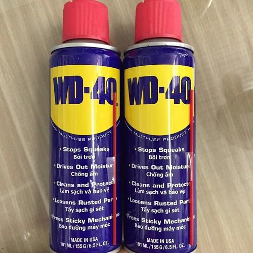 Combo 2 chai xịt chống rỉ sét và bôi trơn kim loại wd-40 - 191ml - hàng chính hãng - 12584139 , 20416861 , 15_20416861 , 158000 , Combo-2-chai-xit-chong-ri-set-va-boi-tron-kim-loai-wd-40-191ml-hang-chinh-hang-15_20416861 , sendo.vn , Combo 2 chai xịt chống rỉ sét và bôi trơn kim loại wd-40 - 191ml - hàng chính hãng