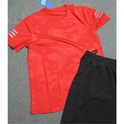 Bộ quần áo thể thao nam họa tiết lạ màu đỏ