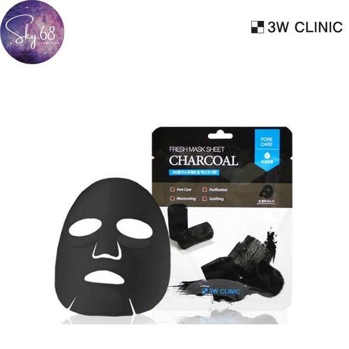 Mặt nạ dưỡng da chiết xuất từ than hoạt tính 3W Clinic Mask Sheet 23ml