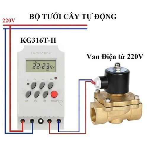 Bộ tưới cây tự động thông minh gồm công tắc kg316t và van phi 21 - td11 - 12577667 , 20406631 , 15_20406631 , 340000 , Bo-tuoi-cay-tu-dong-thong-minh-gom-cong-tac-kg316t-va-van-phi-21-td11-15_20406631 , sendo.vn , Bộ tưới cây tự động thông minh gồm công tắc kg316t và van phi 21 - td11