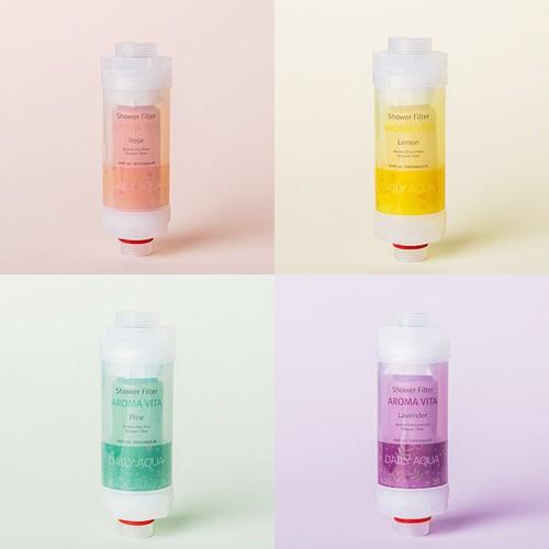Vitamin shower filter - bộ 4 đầu lọc vitamin tạo hương daily aqua - dailyaqua
