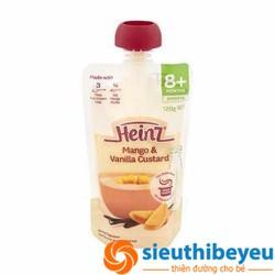 Váng sữa Heinz vị xoài, vani 8m+