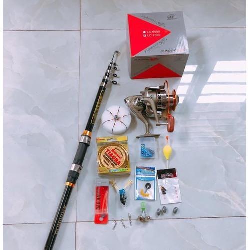 bộ cần câu cá shimano 3m6, máy LC7000- 6227