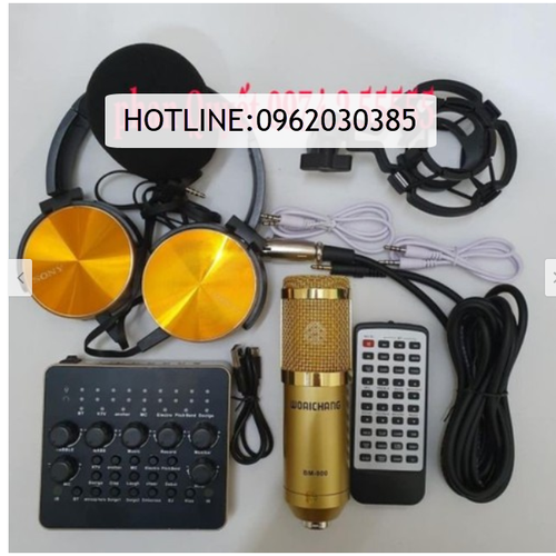 combo bộ míc thu âm livestream hát karaoke livestream online micro WOAICHANG BM-900 card v10 bluetooth TẶNG TAI NGHE 450 - 11362699 , 20412583 , 15_20412583 , 900000 , combo-bo-mic-thu-am-livestream-hat-karaoke-livestream-online-micro-WOAICHANG-BM-900-card-v10-bluetooth-TANG-TAI-NGHE-450-15_20412583 , sendo.vn , combo bộ míc thu âm livestream hát karaoke livestream onlin