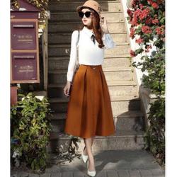 Chân váy xòe tiểu thư kèm belt sang trọng, thích hợp mặc dự tiệc, dạo phố hoặc đi làm, form dáng đẹp dễ phối áo sơ mi hoặc áo kiểu
