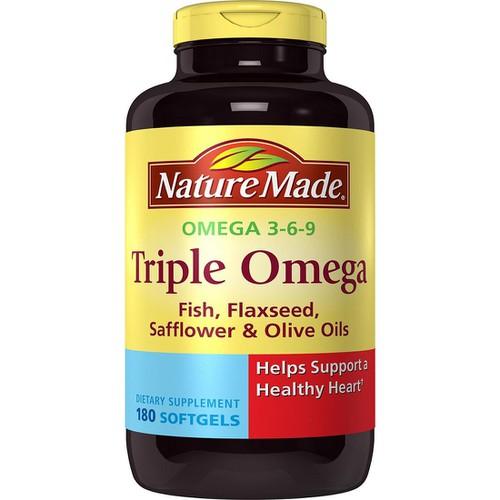 Chính hãng viên uống nature made triple omega 3-6-9 hàng nhập mỹ 180 viên