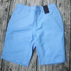 Quần short kaki nam chất mềm màu xanh lơ - quan shorts nam 56