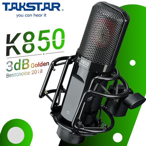 Micro thu âm đỉnh cao takstar pc-k850-phục vụ nhu cầu thu âm-liverstream karaoke