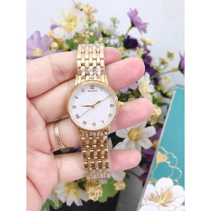 Đồng hồ đôi Bashuns Long phụng mặt trắng in nổi quyền lực sang trọng thời thượng cặp đôi - BS01 4